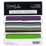 Crossed Paths - The Ribbon Collection - Majesty I - Grape & Green, CLEARANCE