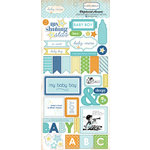 Carta Bella Paper - Baby Mine Collection - Boy - Chipboard Stickers