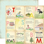 Carta Bella Paper - Baby Mine Collection - Girl - 12 x 12 Double Sided Paper - Girl Nursery Rhymes