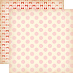 Carta Bella Paper - Baby Mine Collection - Girl - 12 x 12 Double Sided Paper - Baby Girl Dots