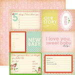 Carta Bella Paper - Baby Mine Collection - Girl - 12 x 12 Double Sided Paper - Our Story