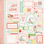 Carta Bella Paper - Baby Mine Collection - Girl - 12 x 12 Cardstock Stickers - Elements