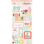 Carta Bella Paper - Baby Mine Collection - Girl - Chipboard Stickers
