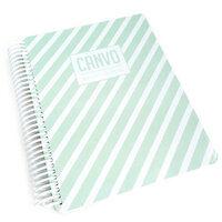 Catherine Pooler Designs - Journal - Mint Stripe