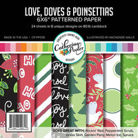 Catherine Pooler Designs - Christmas - 6 x 6 Patterned Paper - Love Doves And Poinsettias