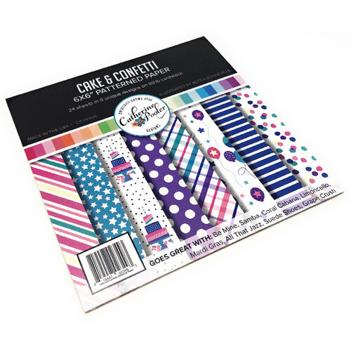 Catherine Pooler Designs - 6 x 6 Patterned Paper - Cake and Confetti