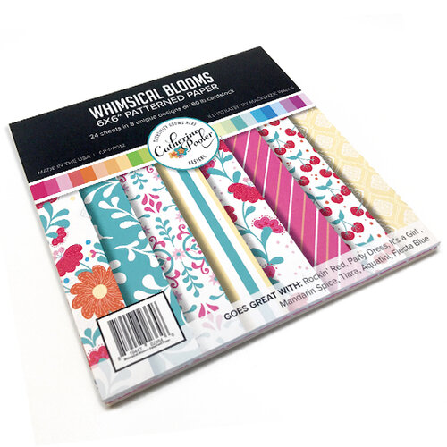 Catherine Pooler Designs - 6 x 6 Patterned Paper Pack - Whimsical Blooms