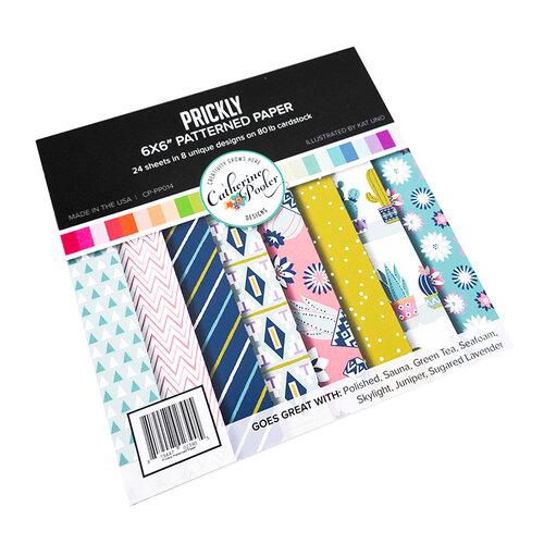 Catherine Pooler Designs - Out West Collection - 6 x 6 Patterned Paper Pack - Prickly