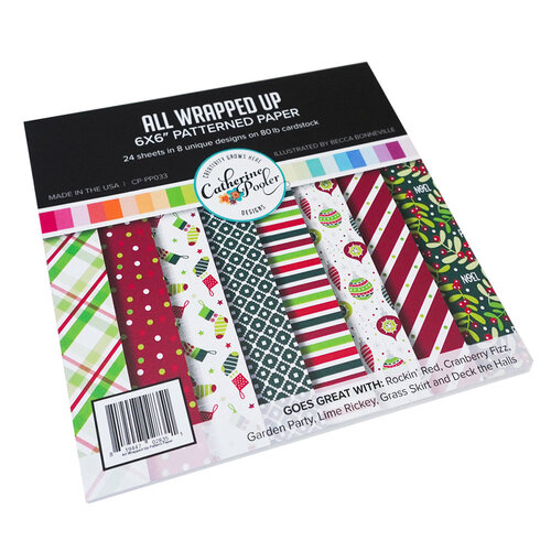 Catherine Pooler Designs - Jolly Holiday Collection - 6 x 6 Patterned Paper Pad - All Wrapped Up