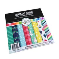 Catherine Pooler Designs - Christmas - Urban Holiday Collection - 6 x 6 Patterned Paper Pad - Decked Out Holiday
