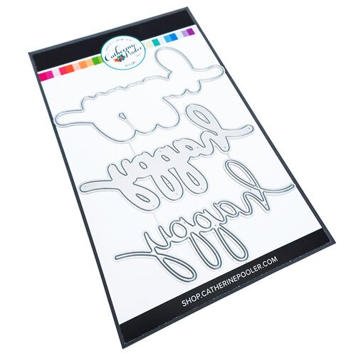 Catherine Pooler Designs - In The Kitchen Collection - Dies - Happy x Three