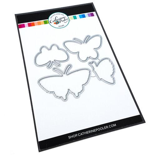 Catherine Pooler Designs - Garden Collection - Dies - Happy Butterflies