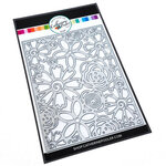 Catherine Pooler Designs - Blooming Essentials Collection - Dies - Flower Burst Cover Plate