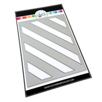 Catherine Pooler Designs - Beautiful New Year Collection - Dies - Diagonal Stripe Cover Plate