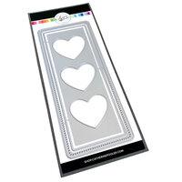 Catherine Pooler Designs - Love N Hearts Collection - Dies - Slimline - Heart Trio