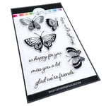 Catherine Pooler Designs - Garden Collection - Clear Photopolymer Stamps - Happy Butterflies
