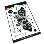 Catherine Pooler Designs - Flutters Collection - Clear Photopolymer Stamps - Wings of Joy