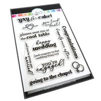 Catherine Pooler Designs - One Plus One Collection - Clear Photopolymer Stamps - Tie the Knot Sentiments