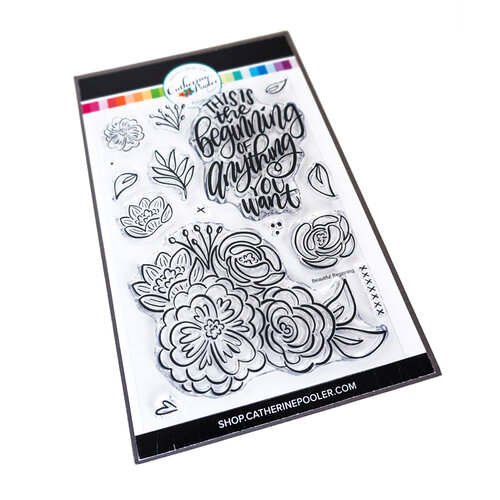 Catherine Pooler Designs - Clear Photopolymer Stamps - Beautiful Beginning Floral