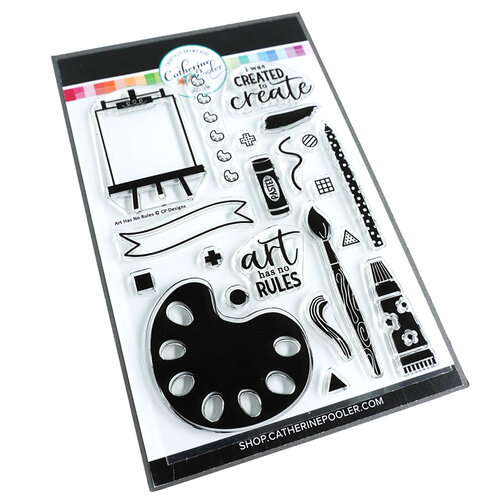 Catherine Pooler Designs - Clear Photopolymer Stamps - Art Has No Rules