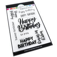Catherine Pooler Designs - Let's Party Collection - Clear Photopolymer Stamps - Happy Birthday Many Ways