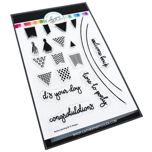 Catherine Pooler Designs - Let's Party Collection - Clear Photopolymer Stamps - Build A Bunting
