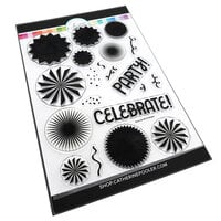 Catherine Pooler Designs - Let's Party Collection - Clear Photopolymer Stamps - Party Fans