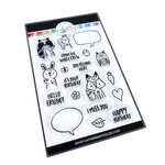 Catherine Pooler Designs - For My Crew Collection - Clear Photopolymer Stamps - Party Critter Crew