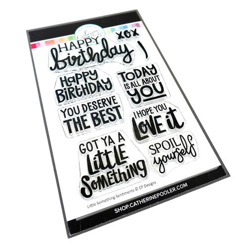 Catherine Pooler Designs - Clear Photopolymer Stamps - Little Something Sentiments
