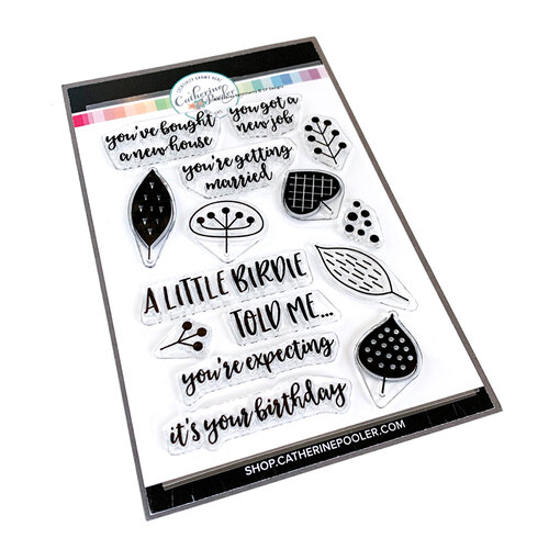 Catherine Pooler Designs - Clear Photopolymer Stamps - Little Leaves Sentiments