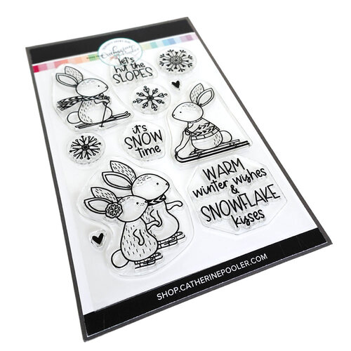 Catherine Pooler Designs - Clear Photopolymer Stamps - Christmas - Bunny Slopes