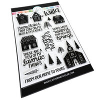 Catherine Pooler Designs - Clear Photopolymer Stamps - Christmas - Alpine Village