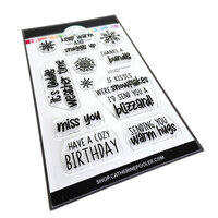 Catherine Pooler Designs - Clear Photopolymer Stamps - Christmas - Cuddle Weather Sentiments
