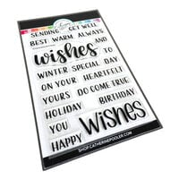 Catherine Pooler Designs - Clear Photopolymer Stamps - Christmas - All Around Wishes Sentiments