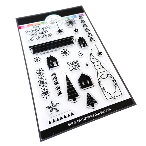 Catherine Pooler Designs - Clear Photopolymer Stamps - Winter Mantle
