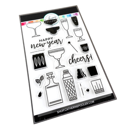 Catherine Pooler Designs - Beautiful New Year Collection - Clear Photopolymer Stamps - Cocktail Party