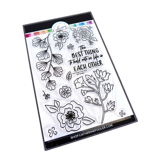 Catherine Pooler Designs - For My Crew Collection - Clear Photopolymer Stamps - Best Things In Life Floral