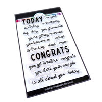 Catherine Pooler Designs - For My Crew Collection - Clear Photopolymer Stamps - Today Sentiments