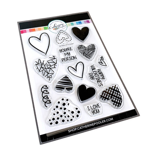 Catherine Pooler Designs - Love N Hearts Collection - Clear Photopolymer Stamps - Hip Hearts