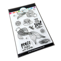 Catherine Pooler Designs - Clear Photopolymer Stamps - Koi Pond