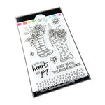 Catherine Pooler Designs - April Showers Bring Collection - Clear Photopolymer Stamps - Bloomin' Wellies