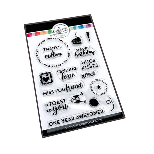 Catherine Pooler Designs - Clear Photopolymer Stamps - Toast to You Sentiments