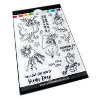 Catherine Pooler Designs - Waves of Happiness Collection - Clear Photopolymer Stamps - Ocean Chums