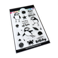 Catherine Pooler Designs - Waves of Happiness Collection - Clear Photopolymer Stamps - Puffin Party