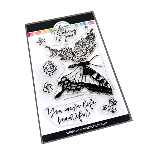 Catherine Pooler Designs - Creative Thinking Collection - Clear Photopolymer Stamps - Butterfly in Bloom
