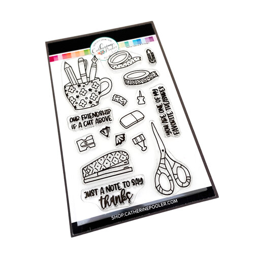 Catherine Pooler Designs - Creative Thinking Collection - Clear Photopolymer Stamps - Desktop Treasures