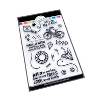 Catherine Pooler Designs - Clear Photopolymer Stamps - Cares to the Wind