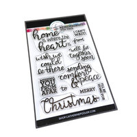 Catherine Pooler Designs - Christmas - Urban Holiday Collection - Clear Photopolymer Stamps - Near or Far Sentiments