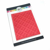 Catherine Pooler Designs - Cling Mounted Rubber Stamp - Plaid Background