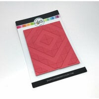 Catherine Pooler Designs - Cling Mounted Rubber Stamp - Angled Squares Background